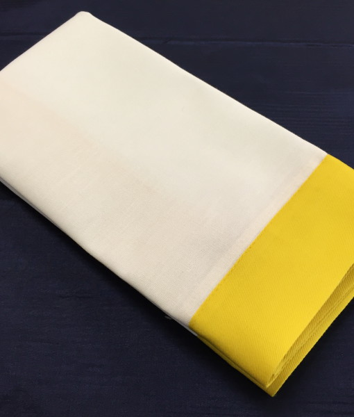 White & Yellow Oxford Serviette