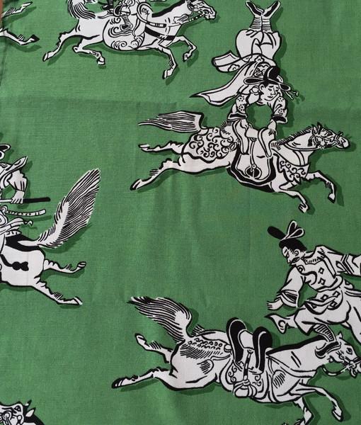 Green Japanese samurai runner_resize
