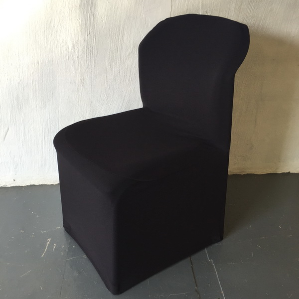 Black Stretch Sandton Convention Chair Cover The
