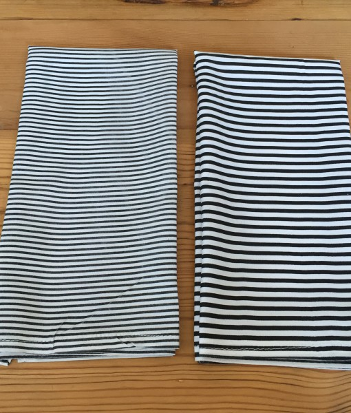 Black And White Fine Stripe Serviette The Tablecloth