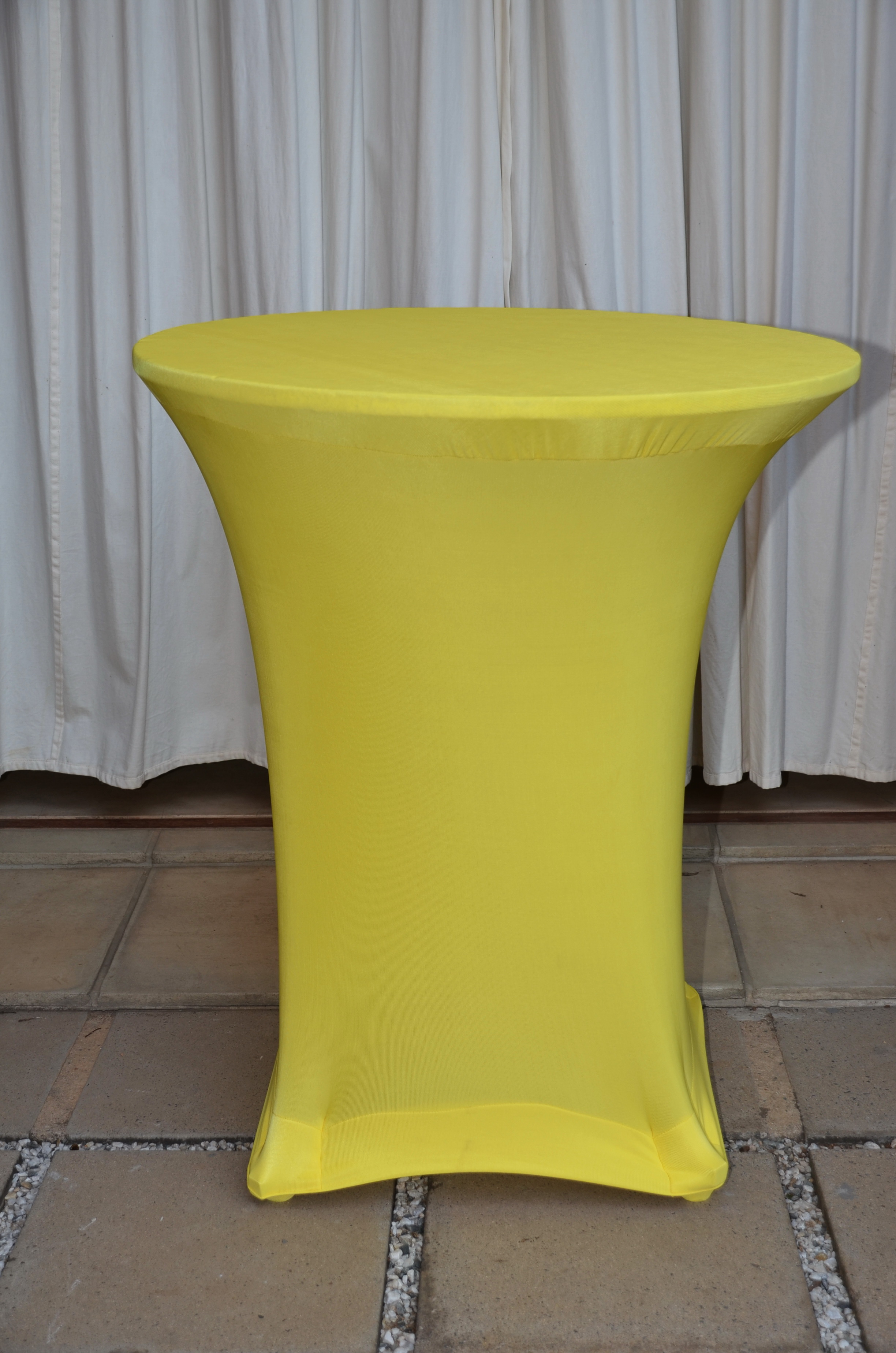 Yellow Stretch Tablecloth The Tablecloth Hiring Company
