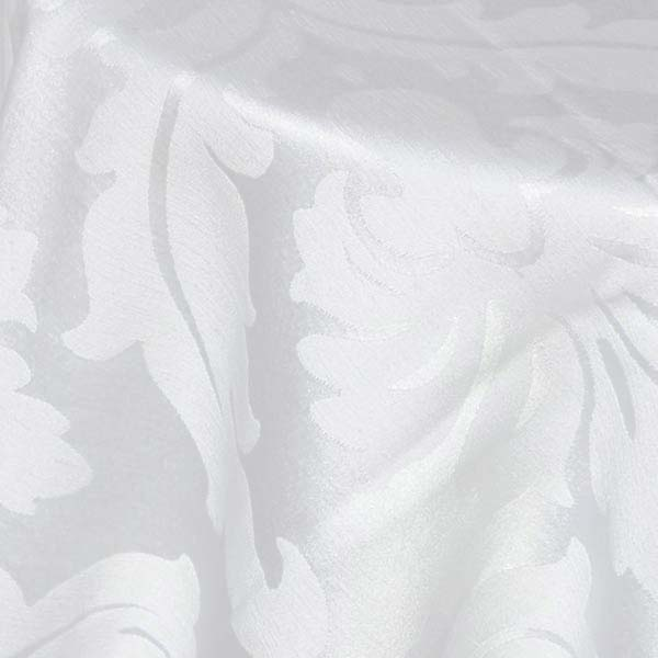 White Fleur De Lis Tablecloth