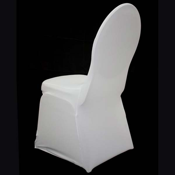 white stretch standard conference chair cover