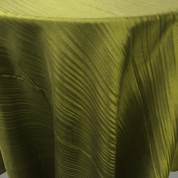 Olive Taffeta Tablecloth