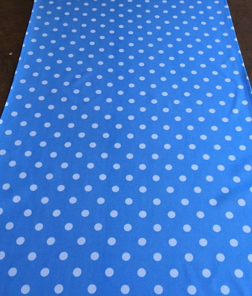 Light Blue and White Polka Dot Runner_resize