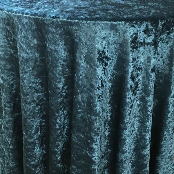 Teal Velvet Tablecloth The Tablecloth Hiring Company