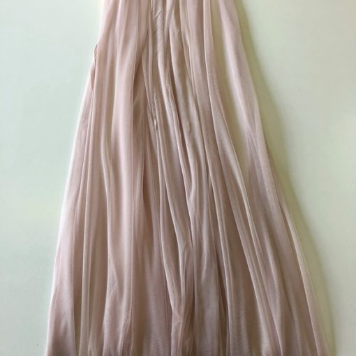 Nude Tulle Oversize Overlay - The Tablecloth Hiring Company