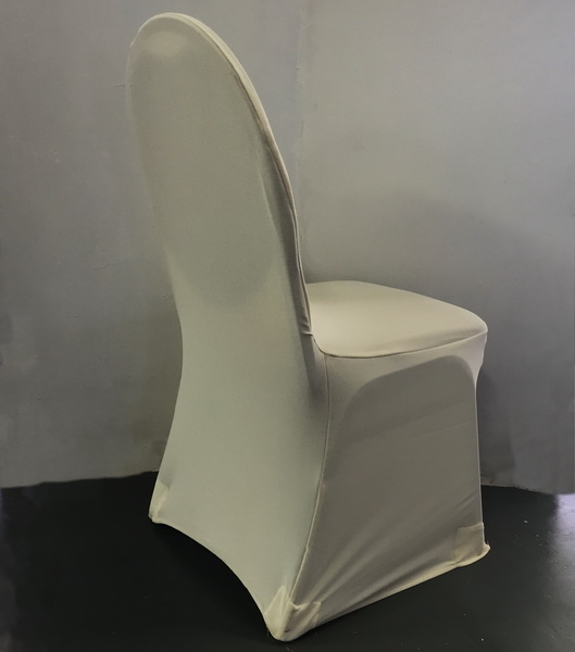 Cream Stretch Standard Conference Chair Cover The