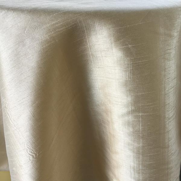 Incroyable Ivory Silk Tablecloth