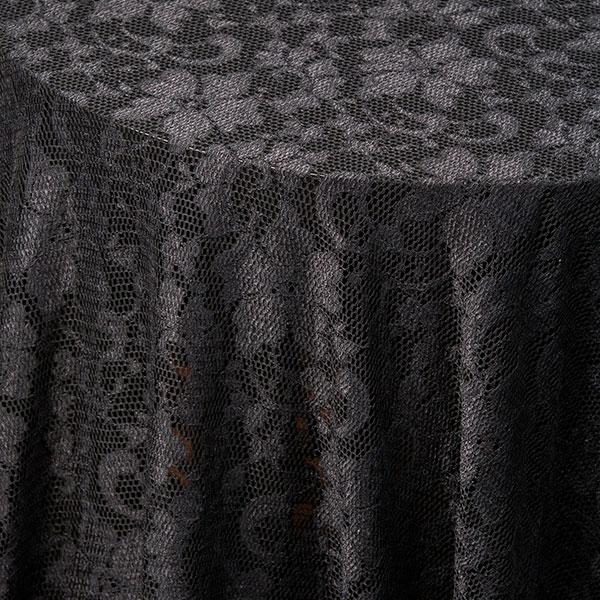 Charmant Black Lace Tablecloth