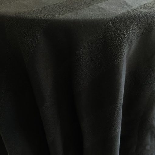 Charcoal Stripe Tablecloth