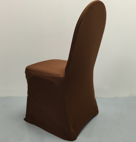 Light Brown Stretch Standard Conference Chair Cover The