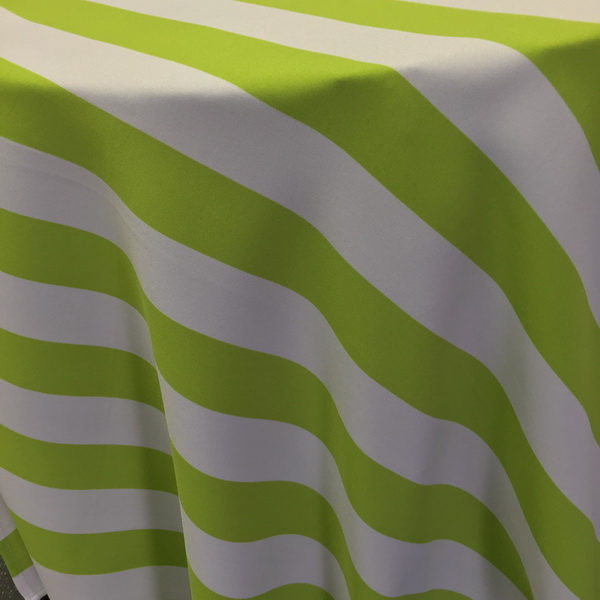 Charmant Lime Green And White Stripe Tablecloth