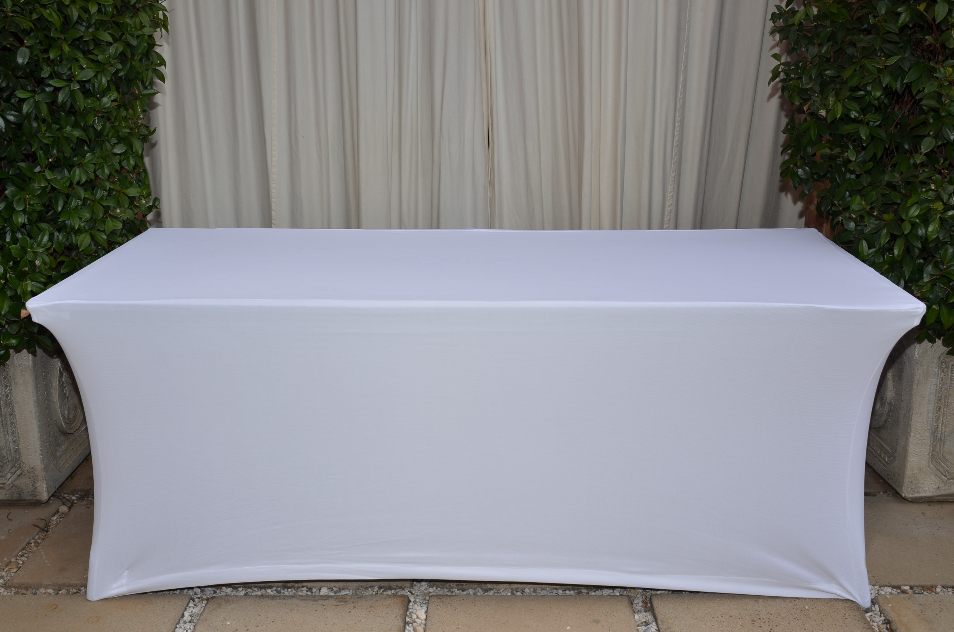 White Stretch Tablecloth