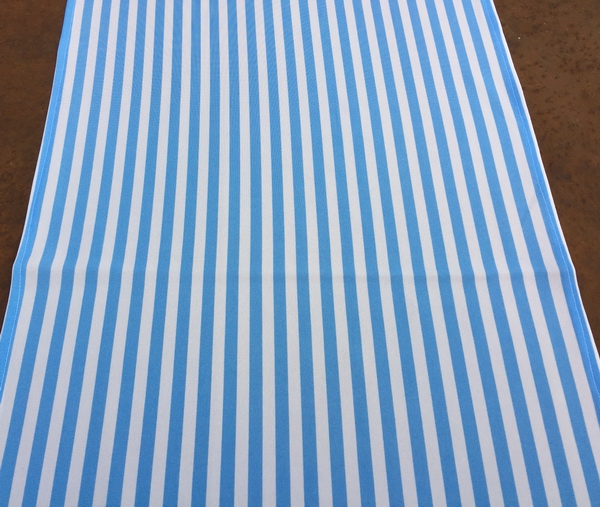 Light Blue And White Narrow Stripe Runner The Tablecloth Hiring