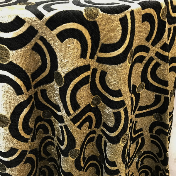 Black Gold Geometric Damask Tablecloth The Tablecloth