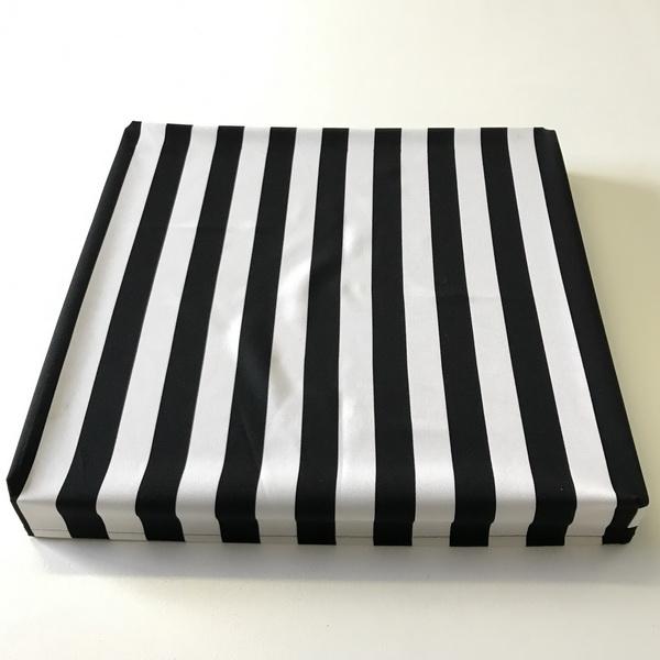 Black And White Stripe Square Box Cover Incl Box The Tablecloth