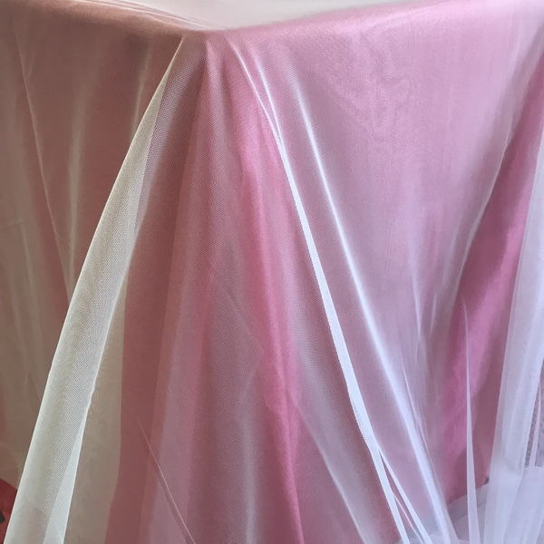 Nude Tulle Oversize Overlay | The Tablecloth Hiring Company
